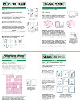 Understanding the Mean: 40 Math Matching Game Cards 6S