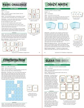 Relating Division of Integers to Multiplication: 40 Math Matching Cards 7N24