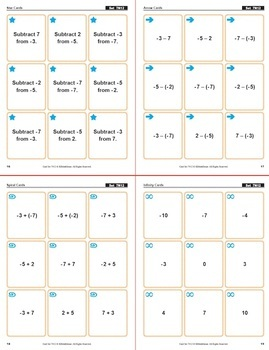 Multi-Match Game Cards 7N: Relating Subtraction of Integers to Addition