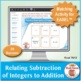 Relating Subtraction of Integers to Addition: 40 Math Matching Game Cards 7N12