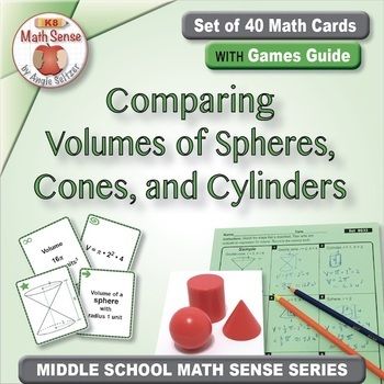 Multi-Match Game Cards 8G: Comparing Volumes of Spheres, Cones, and Cylinders