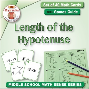 Multi-Match Game Cards 8G: Length of the Hypotenuse