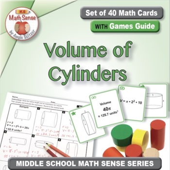 Multi-Match Game Cards 8G: Volume of Cylinders