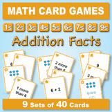 Basic Addition Facts: Math Matching Game Cards BUNDLE