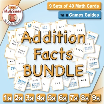 Multi-Match Game Cards BUNDLE: Addition Facts