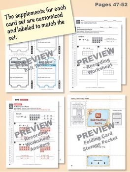 Multi-Match Game Cards BUNDLE: Subtraction Facts