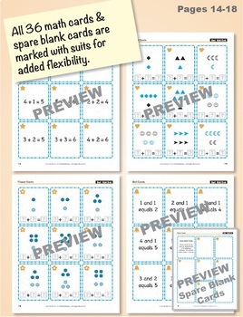 Understanding Addition Equations: 40 Math Matching Game Cards KA13