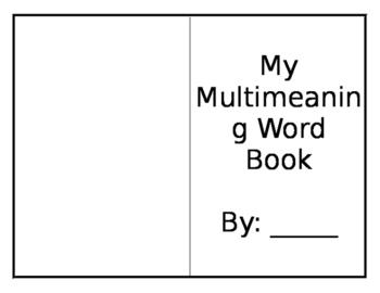Multi-Meaning Book 4th Grade
