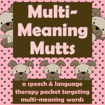 Multi-Meaning Mutts
