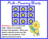 Multi Meaning Word Challenge