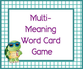 Multi Meaning Word Challenge Card Game PRINTABLE