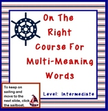 Multi-Meaning Word Lesson ON THE RIGHT COURSE