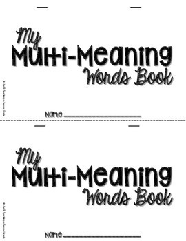 Multi-Meaning Words Book