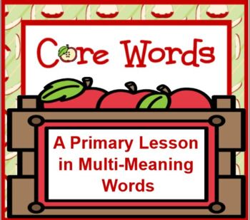 Multi-Meaning Words - Getting To The Core Of It SMARTBOARD