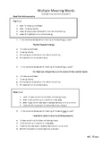 Multi Meaning Words - Set 2
