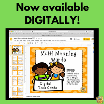 Multi-Meaning Words - VOCABULARY - SCOOT Game - Task Cards