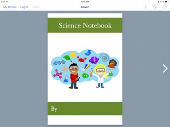 Multi-Media Science Notebook Template for Book Creator App