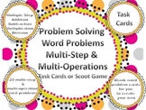 Multi Operation & Multi Step Word Problems Scoot Add, Subt