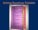 Multi-Page Foldable For Solving Equations: Filled-In and B