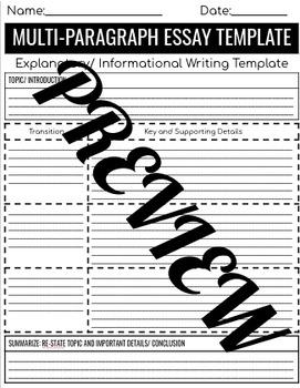 Multi Paragraph Essay Toolbox