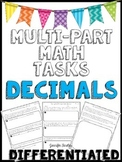 Multi-Part Math Constructed Response {Decimals}