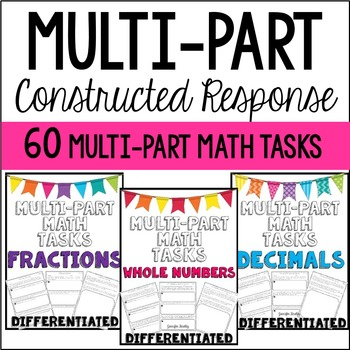 Multi-Part Math Constructed Response {Bundle}