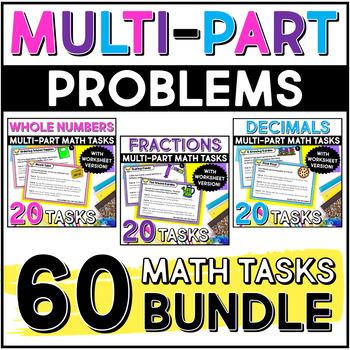 Multi-Part Math Constructed Response {Bundle}