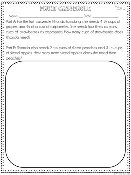 Multi-Part Math Constructed Response {Fractions}