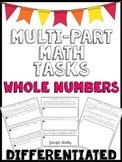 Multi-Part Math Constructed Response {Whole Numbers}
