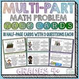 Multi-Part Math Problems Task Cards { Performance Based Tasks }