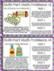 Multi-Part Math Problems Task Cards { Performance Based Tasks 3rd Grade and Up }