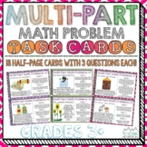 Multi-Part Math Problems Task Cards Performance Based Tasks | Distance Learning
