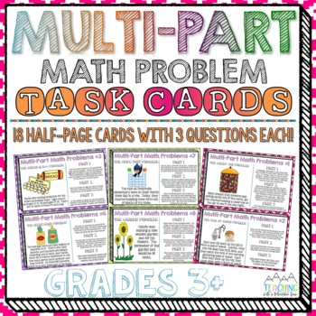 Multi-Part Math Problems Task Cards { Performance Based Ta