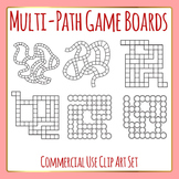 Multi Path Game Boards Template / Layout Clip Art Set for Commercial Use