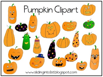 Multi Pumpkins {clipart} {freebie}