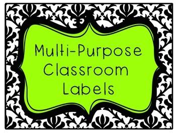 Multi-Purpose Classroom Labels