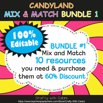 Multi Purpose Label, Editable Labels in Candy Land Theme - 100% Editable