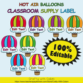 Multi Purpose Label, Editable Labels in Hot Air Balloons T