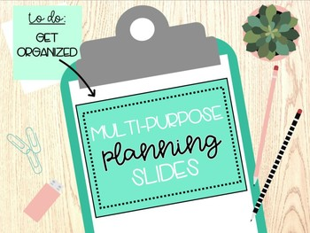 Multi-Purpose Planning Sheets