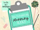 Multi-Purpose Planning Sheets