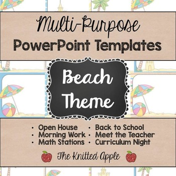 Beach theme powerpoint templates by the knitted apple tpt beach theme powerpoint templates toneelgroepblik Image collections