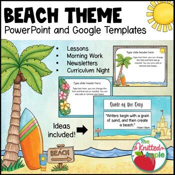 Beach Theme PowerPoint Templates