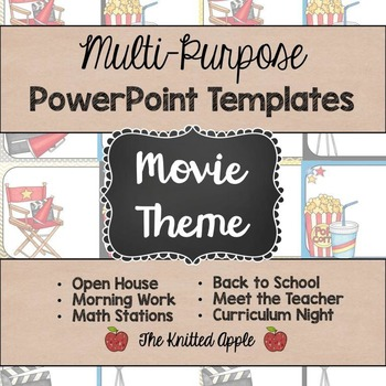 Movie theme powerpoint templates by the knitted apple tpt movie theme powerpoint templates toneelgroepblik Image collections