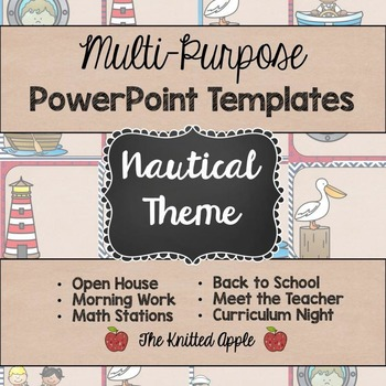 Nautical theme powerpoint templates by the knitted apple tpt nautical theme powerpoint templates toneelgroepblik Choice Image