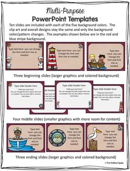 Nautical Theme PowerPoint Templates