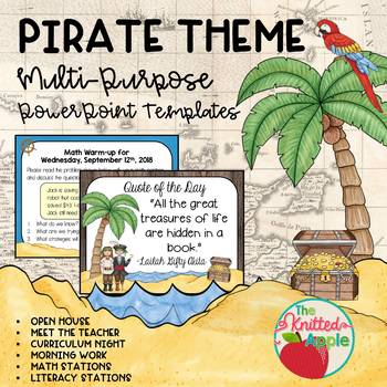 Pirate theme powerpoint templates by the knitted apple tpt pirate theme powerpoint templates toneelgroepblik Images