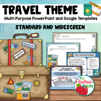 Travel Theme PowerPoint Templates by The Knitted Apple | TpT