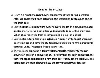 Multi-Purpose Train Speech Therapy (Behavior Management, Articulation, Language)