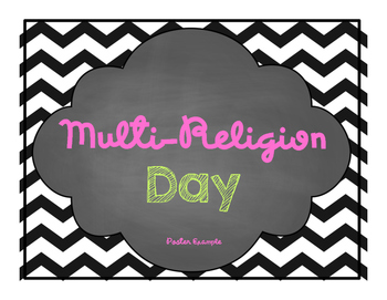Multi-Religion Day unit- Ethics and religious cultures Poster Example