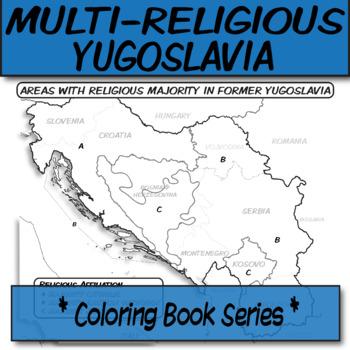 Multi-Religious Former Yugoslavia **Coloring Book Series**